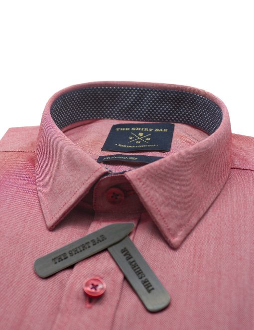 Solid Red Eco-ol Bamboo Custom / Relaxed Fit Short Sleeve Shirt – RF9SNB21.19