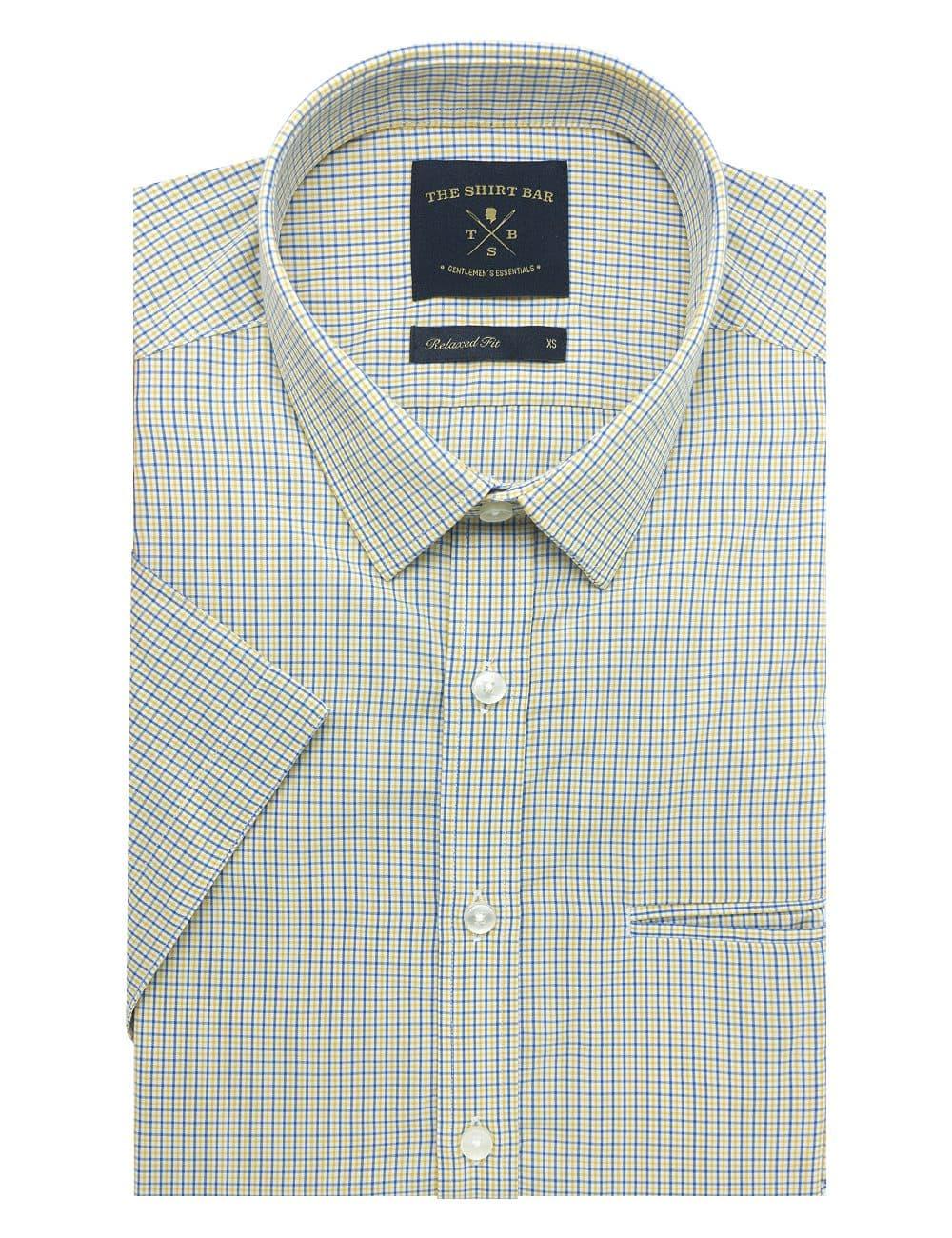 Yellow Checks Eco-ol Bamboo Custom / Relaxed Fit Short Sleeve Shirt – RF9SNB20.19