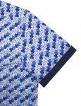 Blue Mosaic Tiles SG Inspired Silky Finish Short Sleeve Shirt - RF9SNB3.18