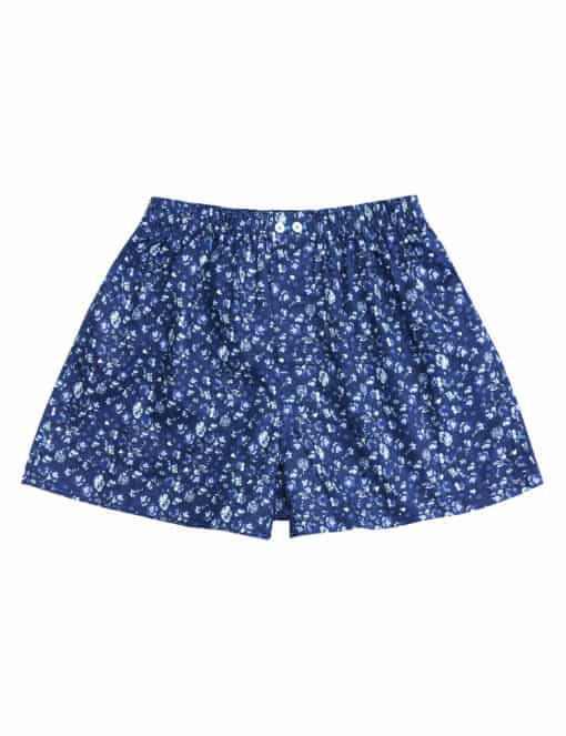 Singapore Botanic Gardens Inspired Navy Floral Print Button Fly Boxer Shorts IW1A1.1