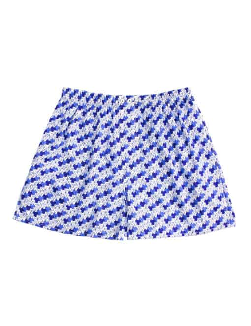 100% Premium Cotton Blue Geometric Print Button Fly Boxer Shorts IW1A6.1
