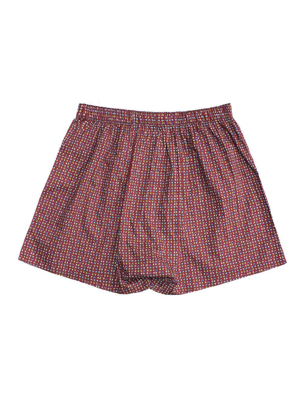 Silky Finish Singapore Collection Red HDB Geometric Print Boxer Shorts IW1A8.1