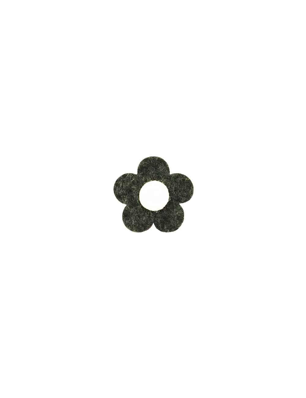 Dark Grey 3 Tier Floral Lapel Pin LP21.10