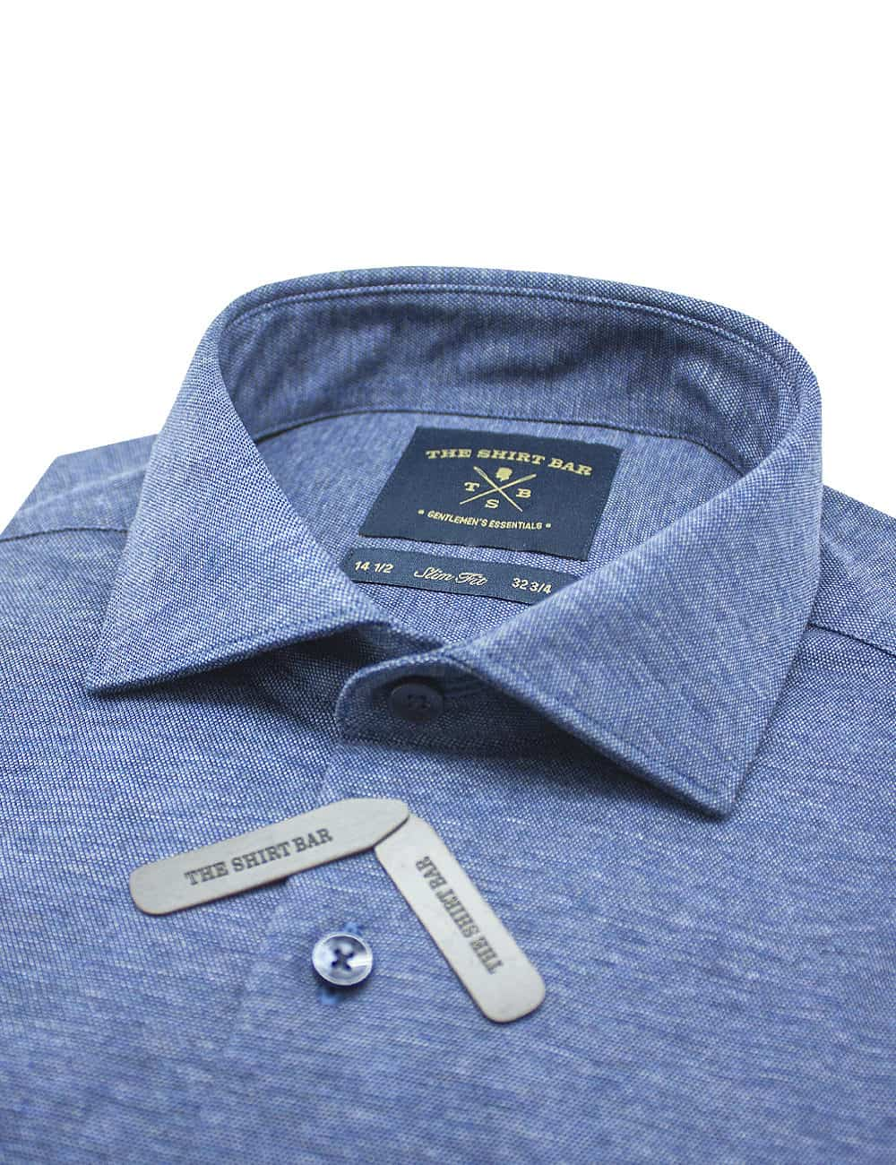 Navy Heather Jetsetter Knitted Slim / Tailored Fit Long Sleeve Shirt – SF1AF3.18