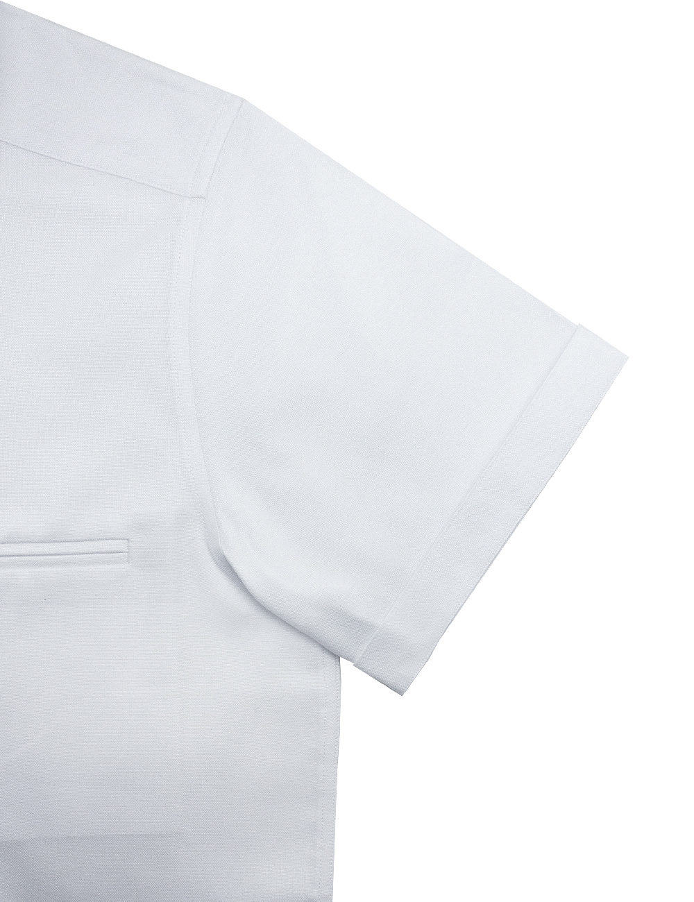 Relaxed Fit Cotton Blend Wrinkle Resistant Solid White Oxford Short Sleeve Easy Iron Shirt RF9SNB10.17