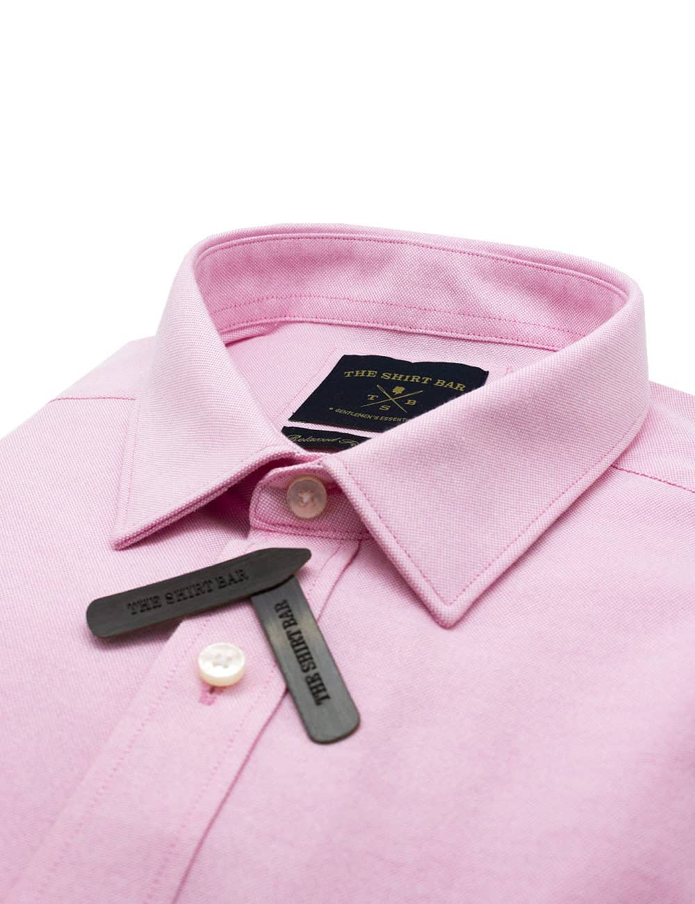 Relaxed Fit Cotton Blend Wrinkle Resistant Solid Pink Oxford Short Sleeve Easy Iron Shirt RF9SNB12.17