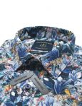 Safari Print Italian Fabric Silky Finish Relaxed Fit Short Sleeve Shirt - RF9SNB11.18