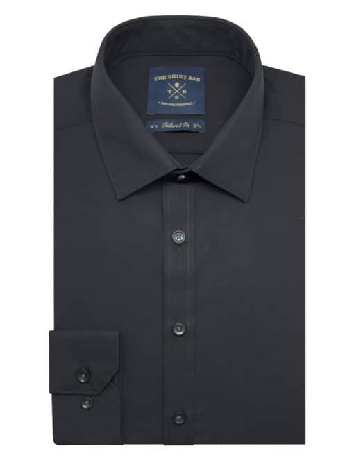 Solid Black Eco-ol Bamboo Shirt - TF2A2.18