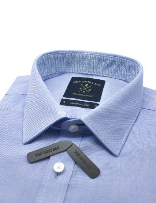 Solid Blue Oxford Eco-ol Bamboo Long Sleeve Shirt - TF2A6.18