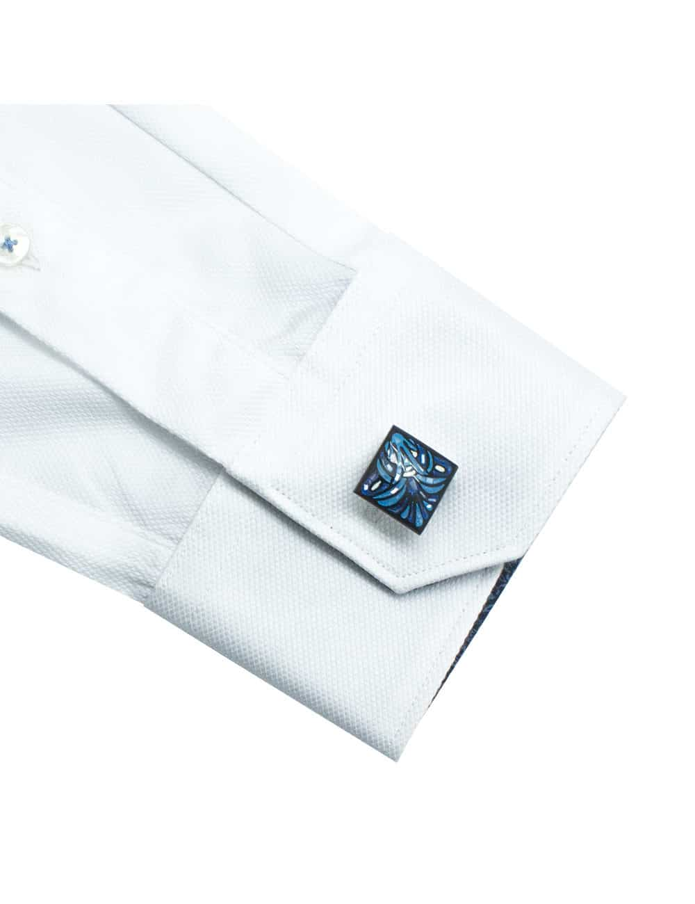Solid White Double Ply Pima Cotton Shirt - TF2A1.18