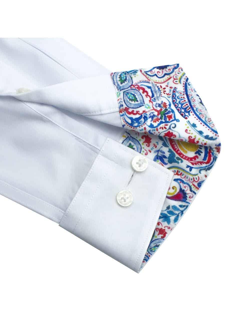Solid White Eco-ol Bamboo Long Sleeve Shirt - TF1C4.18