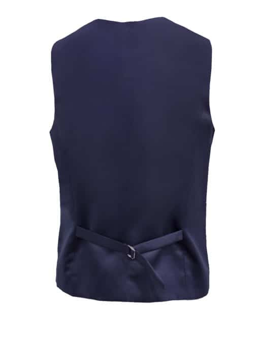 Tailored Fit Navy Single Breasted Vest V1V3.4