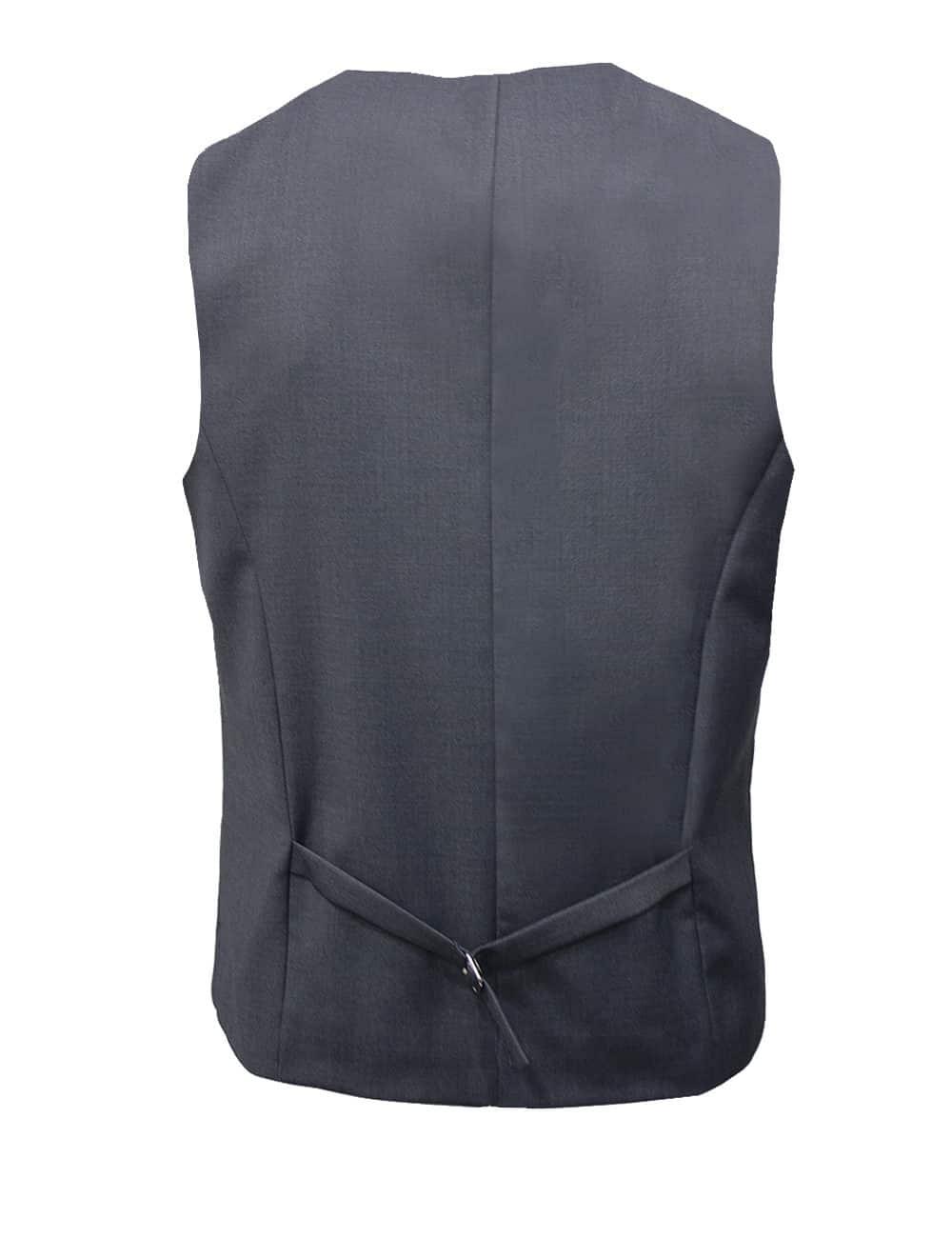 Tailored Fit Grey Single Breasted Vest V1V4.4