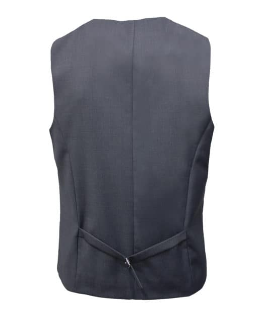 Tailored Fit Grey Single Breasted Vest V1V4.4