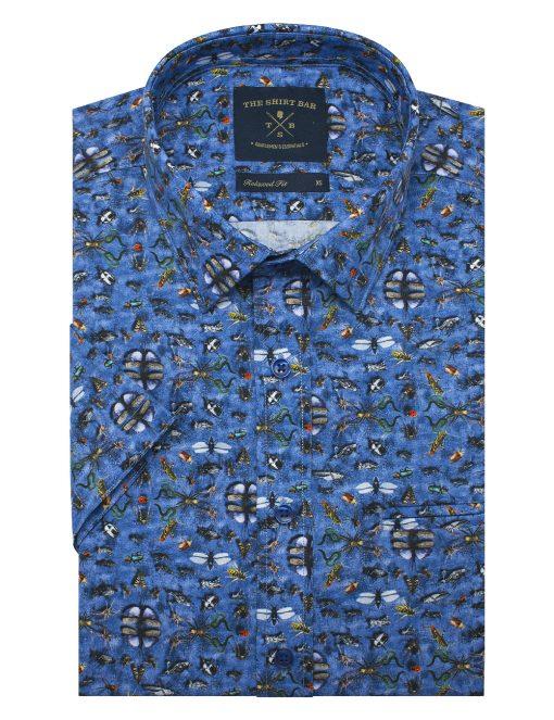 Insect Kingdom Print SG Inspired Italian Fabric Custom/Relaxed Fit Short Sleeve Shirt - RF9SNB11.21