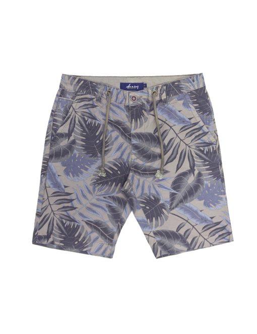 Casablanca Brown Leaf Printed Chino Shorts – SA7.1