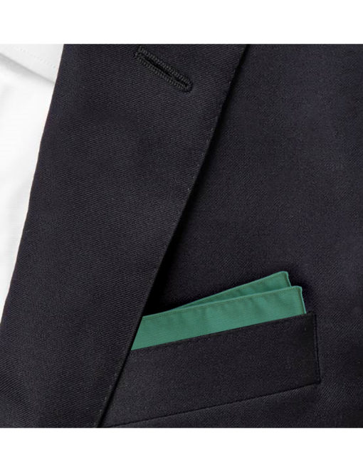 Solid Green Woven Pocket Square PSQ22.7