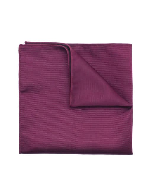 Solid Beet Red Woven Pocket Square PSQ23.7