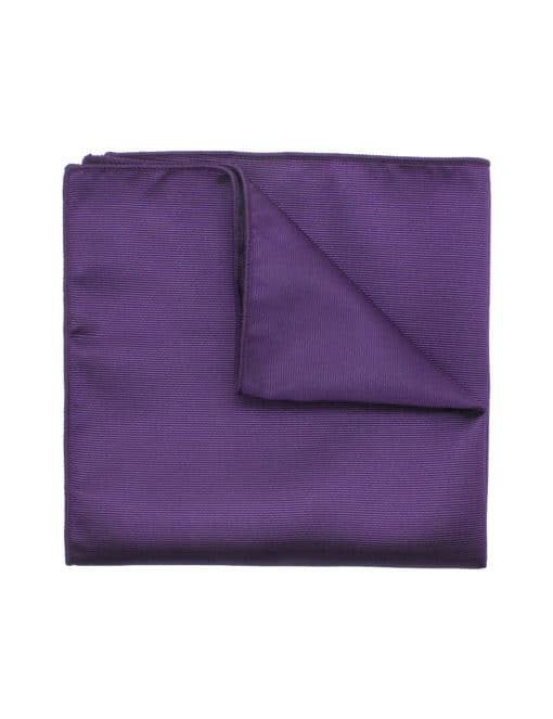 Solid Imperial Purple Woven Pocket Square PSQ24.7