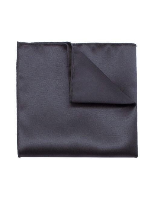 Solid Black Olive Woven Pocket Square PSQ24.9