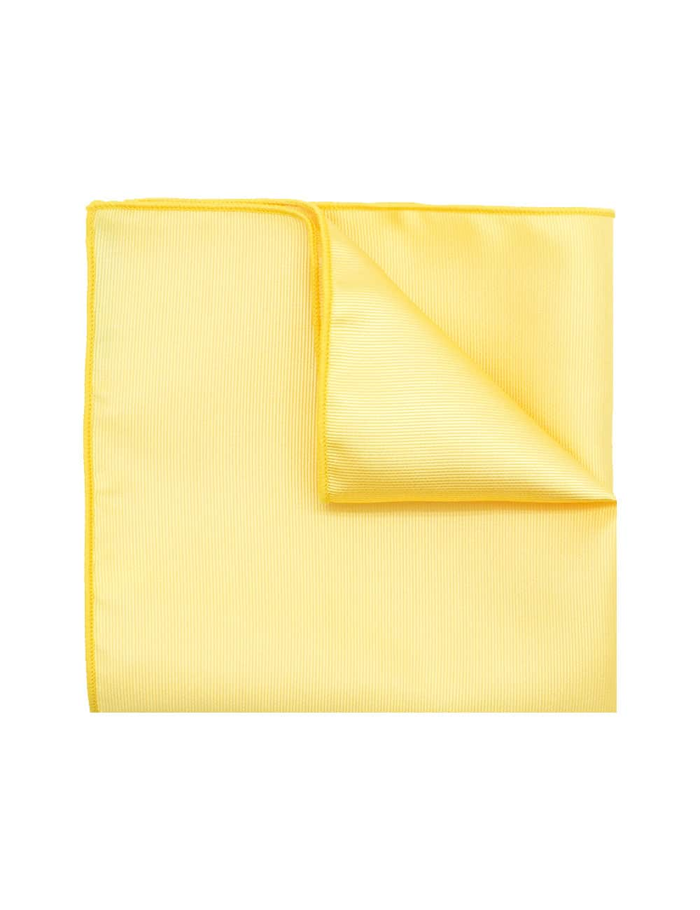 Solid Sunset Gold Woven Pocket Square PSQ25.7