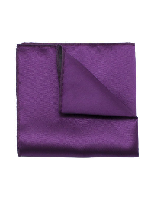 Solid Purple Grape Woven Pocket Square PSQ25.9