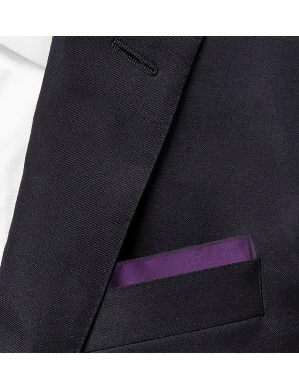 Solid Purple Grape Woven Pocket Square PSQ25.9