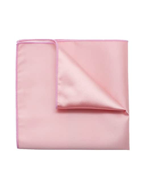 Solid Peach Bud Woven Pocket Square PSQ27.9