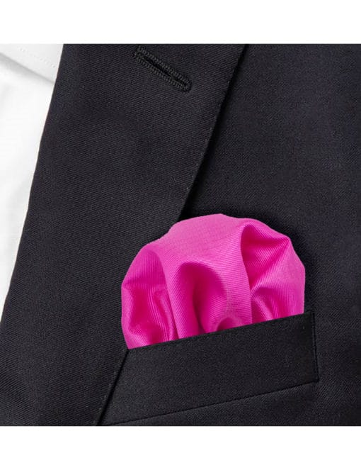 Solid Glory Pink Woven Pocket Square PSQ28.7