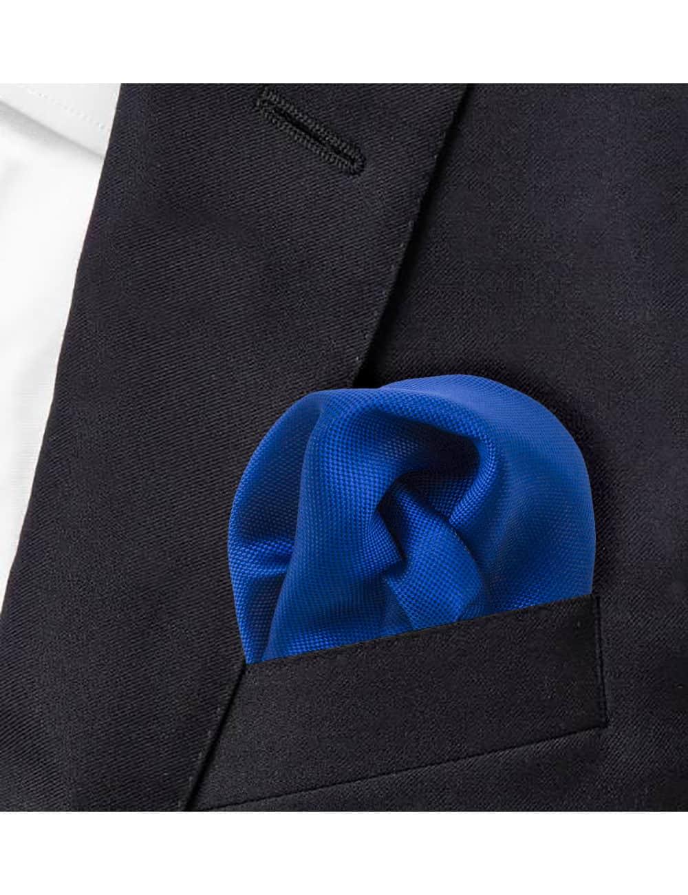 Blue Dobby Woven Pocket Square PSQ49.9