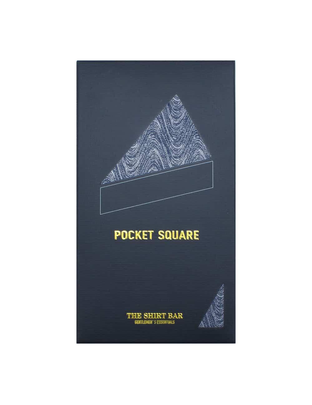 Grey Dobby Woven Pocket Square PSQ50.9