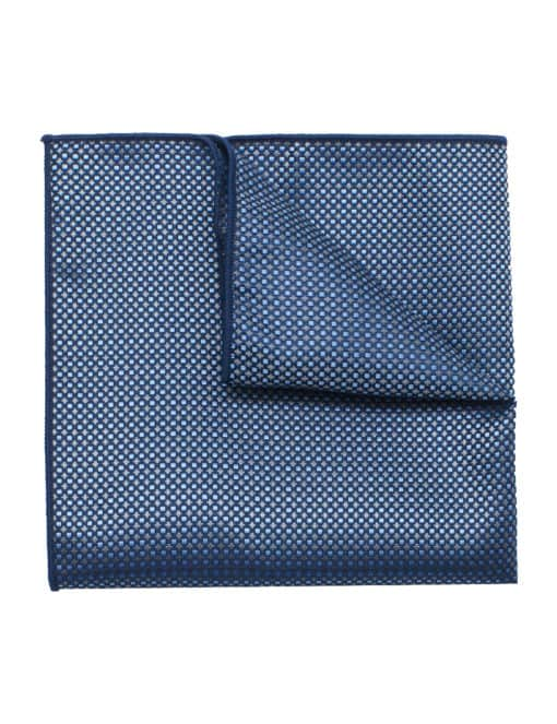 Sky Blue and Grey Checks Woven Pocket Square PSQ55.9