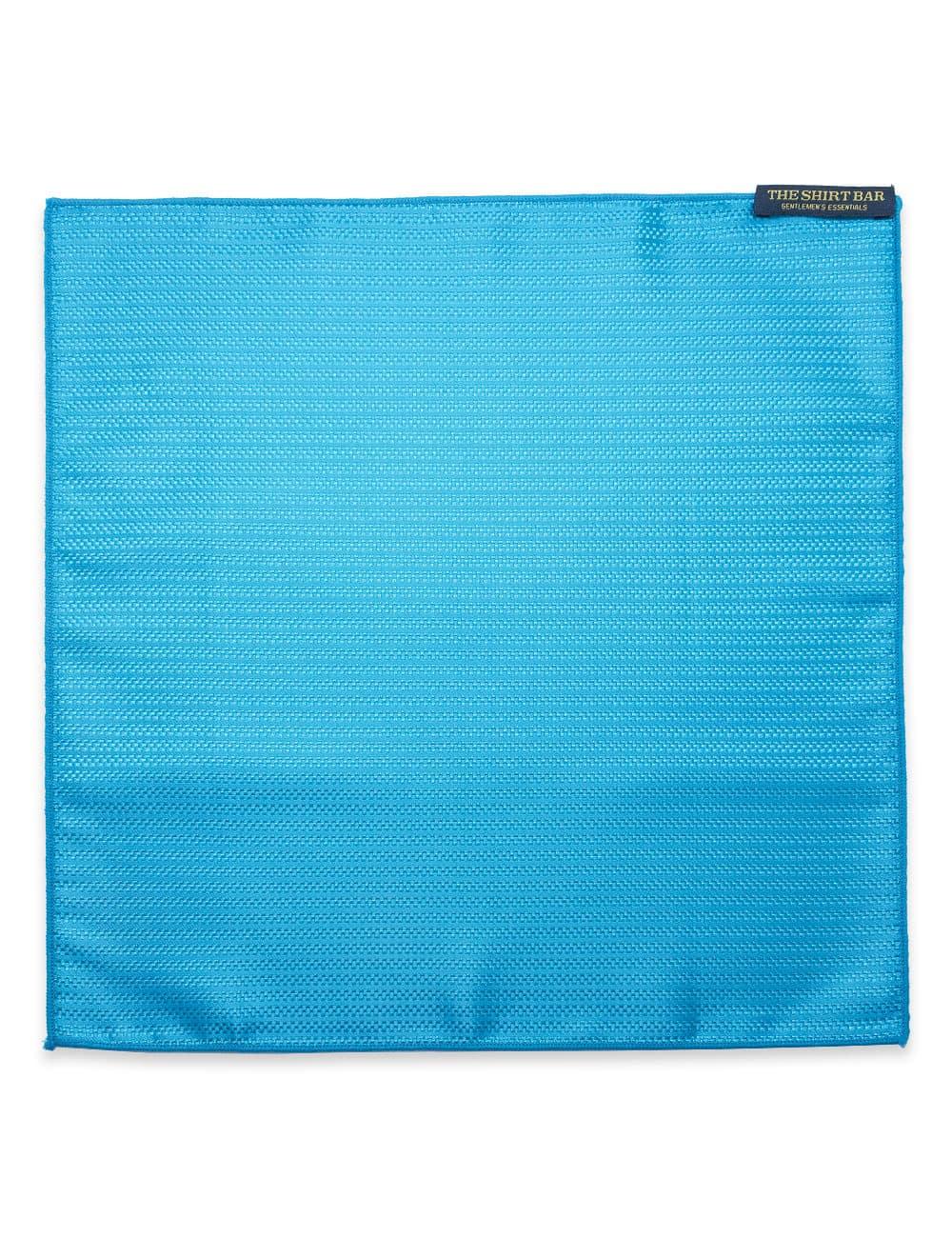 Bright Blue Dobby Woven Pocket Square PSQ57.9