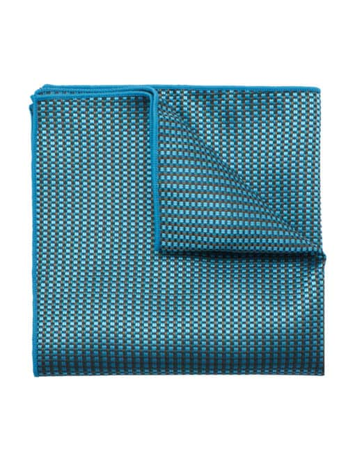 Turquoise Dobby Woven Pocket Square PSQ59.9