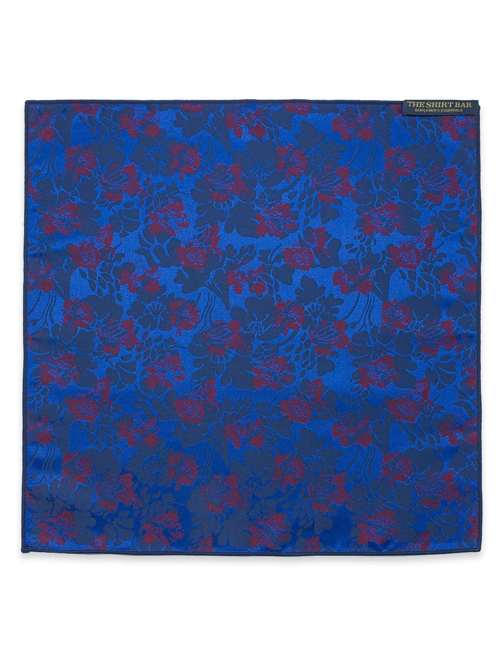 Blue with Red Dobby Woven Pocket Square PSQ66.9