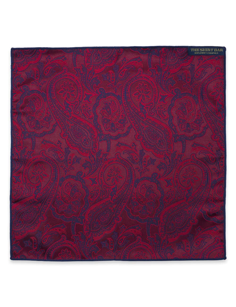 Red Floral Woven Pocket Square PSQ68.9