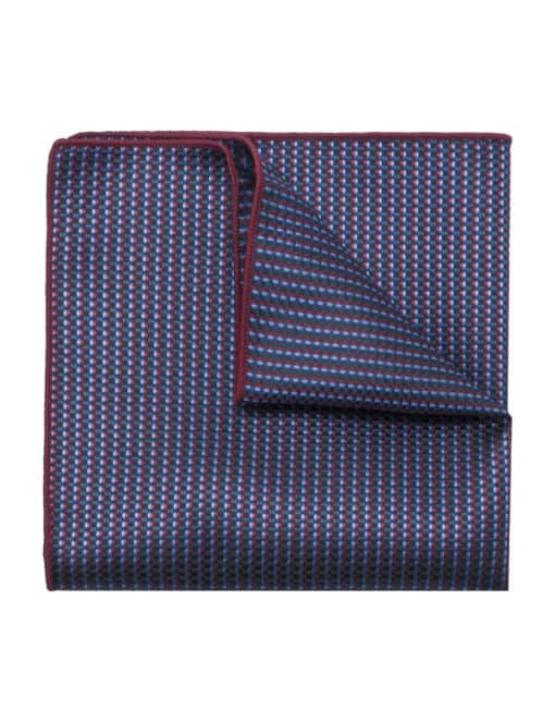 Navy and Sky Blue Dobby Woven Pocket Square PSQ72.9