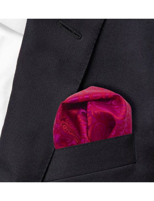 Fuchsia Pink Dobby Woven Pocket Square PSQ81.9