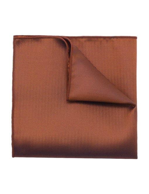 Orange Dobby Woven Pocket Square PSQ84.9
