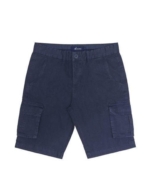 Solid Navy Cargo Shorts - SB2.1
