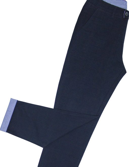 Slim Fit Navy Casual Pants - CPSFA5.2