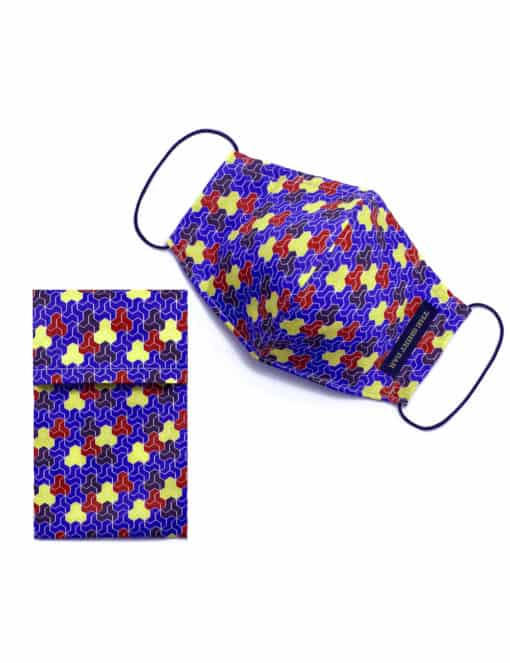 Blue Colourful Mosaic Tiles SG Inspired Reusable Mask - FM20.1