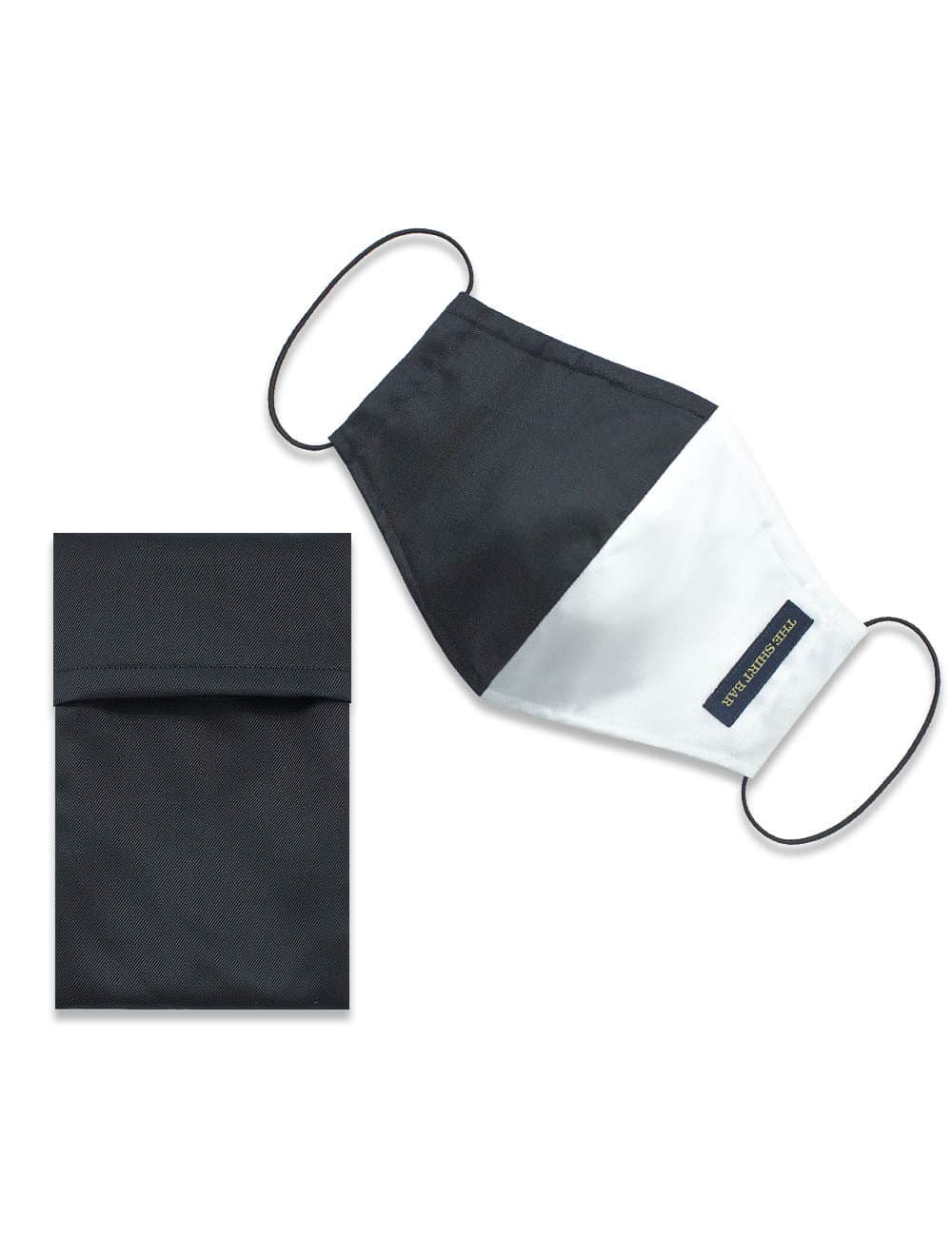 Black / White Duality Reusable Face Mask with Pouch - FM22.1