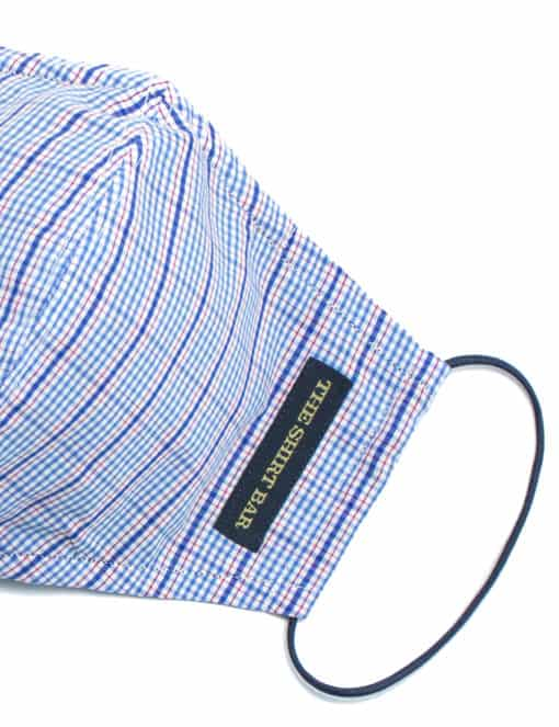 Blue Checks Reusable Mask with Pouch FM24.1