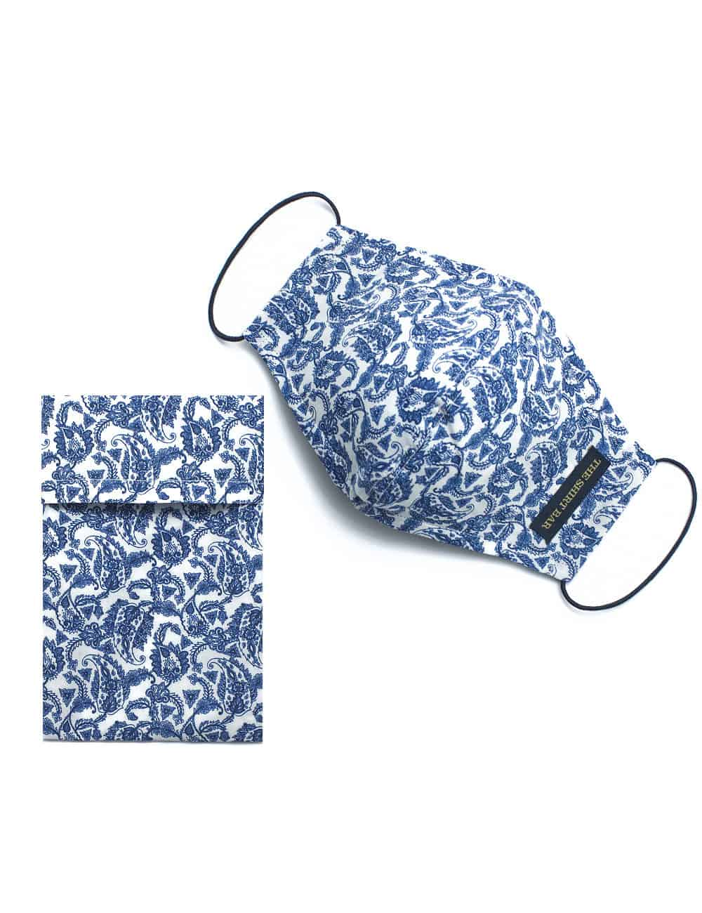 Blue Cultural SG Inspired Reusable Mask with Pouch - FM17.1
