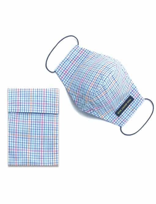 Multicoloured Checks Reusable Mask with Pouch - FM25.1