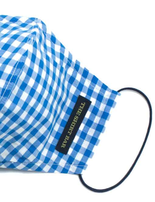 Blue Checks Reusable Mask with Pouch - FM29.1
