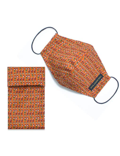 Orange Hometown SG Inspired Print Reusable Mask with Pouch FM36.1