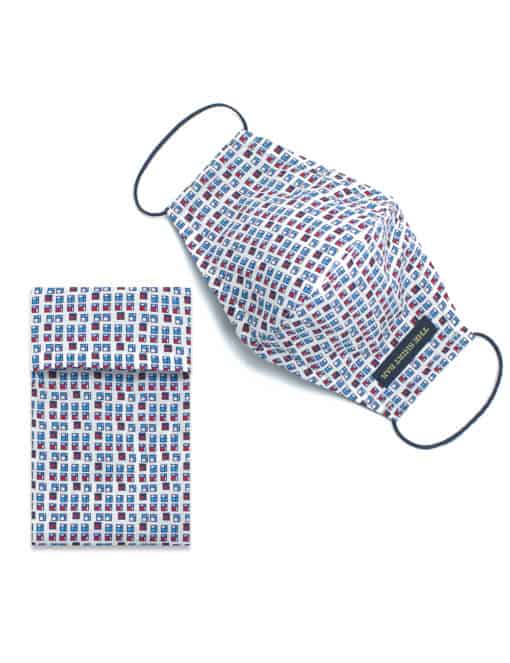 White HDB Inspired Print Reusable Mask with Washable Bag - FM10.1