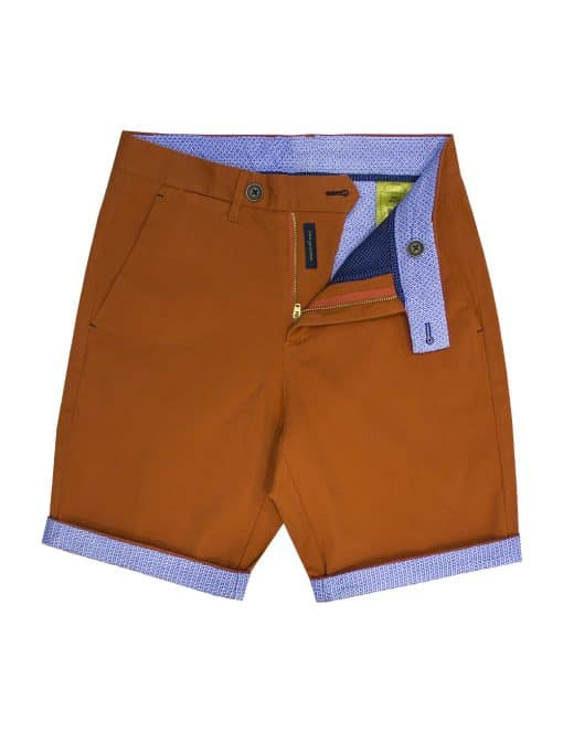 Orange Stretch Cotton Shorts - CSA4.3
